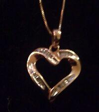 10k Gold Diamond Heart Charm A5