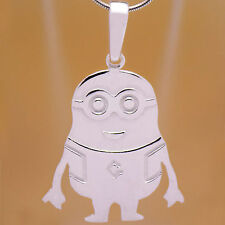 Marvelous Solid 925 Sterling Silver Children Kids Minion Minions Movie Pendant