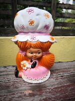 VTG RARE MEXICAN STRAWBERRY SHORTCAKE CLONE DOLL COIN BANK TOY VINILOS ROMAY