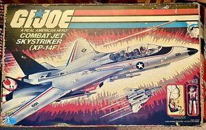 1983 G.I. Joe Combat Jet Skystriker XP-14F 100% Complete w/Box - Both Parachutes