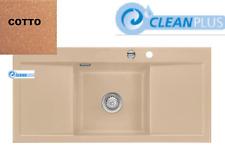 Systemceram KeraDomo Keramikspüle Mera-Middle CleanPlus&Exzener COTTO/Terracotta