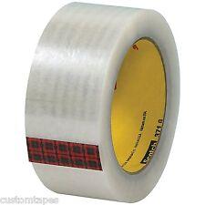 "Scotch T9023716PK Carton Sealing Tape, 3M 371 2"" x 110 yd, Clear (Pack of 6)"