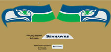 SEATTLE SEAHAWKS (THROWBACK) Helmet Decals (1976-2001)  Full Size -with Bumpers