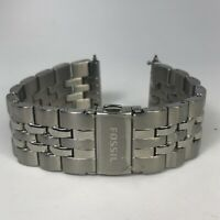 Fossil 22mm Silver Stainless Steel Watch Band Strap 040300