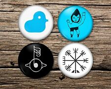 More details for bjork badge magnet keyring or mirror set of 4 or single! björk  army of me, pin