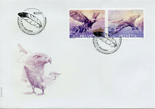 Switzerland 2019 FDC Birds Europa Golden Eagle Sanderling 2v Set Eagles Stamps