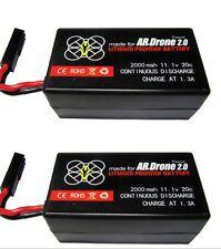 2 X 2000mAh 11.1v Battery Bateria For Parrot AR Drone 2.0 (GIFI POWER)
