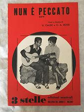 SPARTITO MUSICALE NUN E' PECCATO U. CALISE C.A. ROSSI 1959 SLOW