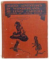1923 Rare ALICE IN WONDERLAND Lewis Carroll COLOR PLATES Fairy Tale GEORGE SOPER