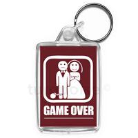 Game Over Marriage Keyring Funny Joke Gift Key Fob Keychain | Medium Size