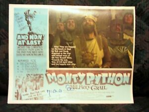 "Monty Python & the Holly Grail Aust. Lobby Card Set of 8 Cards Reprinted 11""x14"""