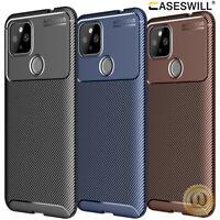 For Google Pixel 4A 5G 5 4 XL Case Slim Carbon Fiber Shockproof Soft TPU Cover