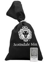 10 oz Scottsdale STACKER® .999 Silver Bar w/ Black Canvas Bag #A182