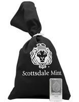 10 oz Scottsdale STACKER? .999 Silver Bar w/ Black Canvas Bag #A182