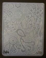Sizzix Large Embossing Folder BOHEMIAN BOTANICALS fits Cuttlebug 4.5x5.75in