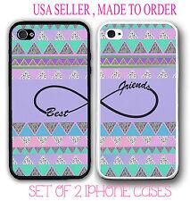 PURPLE Aztec BFF Best Friends PHONE Cases SET OF 2 For iPhone 6S SE 5S 5C S6 S7