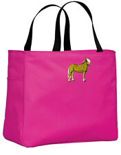 Haflinger embroidered essential tote Any Color