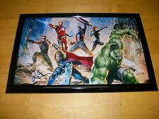 THE AVENGERS AUTHENTIC DUAL SIGNED 11X17 *HIGH QUALITY* MOVIE POSTER W/ PROOF