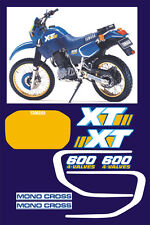 Kit completo Yamaha XT 600 2KF 1986/89 - adesivi/adhesives/stickers/decal