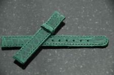 Perrin-Tiffany Tesoro 13mm Crocodile Watch Strap Green