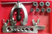Brake Pipe Flaring Tool - 10 Pc Kit - 5, 6, 8,10,12,14,16 mm Brake Pipes