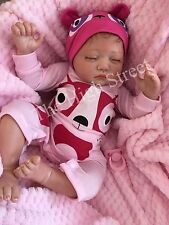 "Childrens 1st Reborn Doll Baby Girl Big Newborn Size Phoebe 22"" Rooted Hair UK"