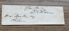 BRADFORD RIPLEY ALDEN AUTOGRAPH US ARMY COLONEL - INDIAN FIGHTER - OIL INVESTOR