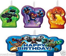 Skylanders Candles 4pcs Cake Cupcake Decorations Candle Toppers Party Supplies