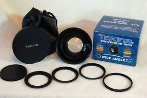 Tokina 0.5x Wide Angle 72mm Pro Lens w/ 4 Adaptor Rings - fits most brands
