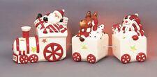 DECORAZIONI di Natale Treno CANDELINA TEA LIGHT portacandele lumini LED GRATIS!