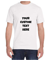 PERSONALIZED CUSTOM PRINT YOUR OWN TEXT ON T-SHIRT SHIPPING ON THE DAY