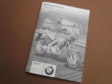 BMW F650CS Wartungsanleitung Serviceheft