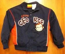 CURIOUS GEORGE youth 4T toddler embroidery Monkey jacket Margret Rey youth