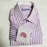Robert Graham Men's Lilac Striped Dress Shirt w/ Paisley Flip Cuff | Size 15.5