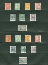 EDW1949SELL : MEXICO 1926-33 Scott #658//87. 4 Better Complete sets. Cat $423.00