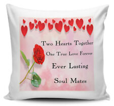 Two Hearts Together One True love Forever Ever Lasting Soul Mate Cushion + INNER