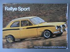 FORD ESCORT MEXICO & RS1600 orig 1970s UK Mkt Sales Leaflet Brochure - AVO RS
