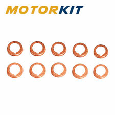 """10x 0.43"""" Car Oil Drain Plugs Crush Metal Washer Gaskets For Nissan 11026JA00A"""
