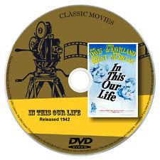 In This Our Life 1942 - Bette Davis, Olivia de Havilland - Drama DVD