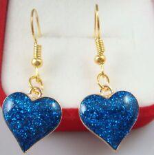 """Simple Drop Elegant Women Earring sp11f 925 Silver Plated Hook 2.6"""" love"""