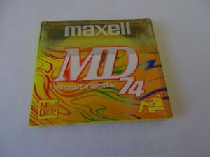 MAXELL  Mini  Disk  NEW 74  Recordable MD