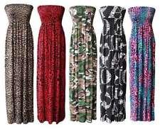 Viscose Bandeau Animal Print Plus Size Dresses for Women