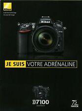 NIKON brochure pub. D7100 édition 5/2013. en français