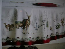 WILLIAMS SONOMA SNOWMAN TABLECLOTH 90 INCHES ROUND 100% COTTON NEW WITH TAGS