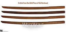Japanese Solid Oak Practice Sword -- Heavy Wooden Training Bokken/Samurai/Katana