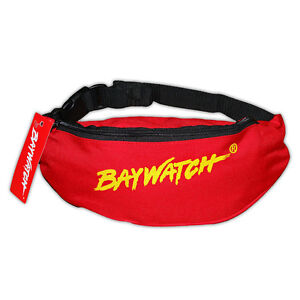 LICENSED BAYWATCH ® RED/YELLOW BELT BAG FANCY DRESS BUM WAIST MONEY POUCH