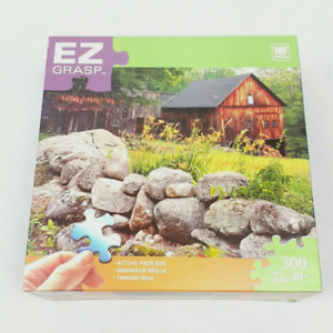 """EZ Grasp Large Format 300 Piece Puzzle Milton Bradley """"The Old Barn""""  New Sealed"""