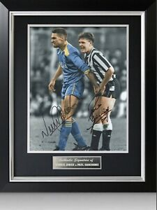 Paul Gascoigne Signed Photo Framed Display Certificate