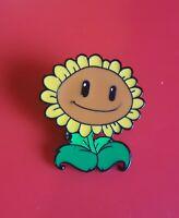 Plants Vs Zombies Sunflower Pin Enamel Metal Brooch Lapel Badge Adult Gift