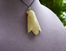 Chinese JADE Carving of CICADA Pendant Amulet Possible Han Dynasty